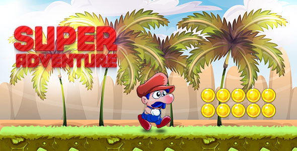 Super adventure game with admob - buildbox & eclipse project