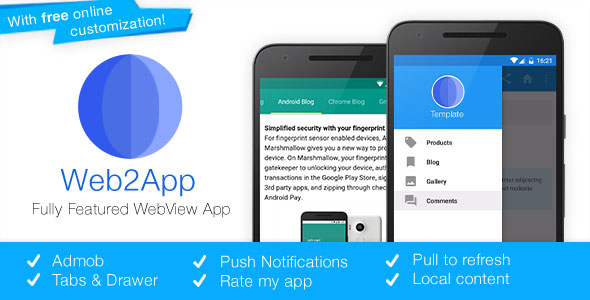 Web2App v3.1 - Quickest Feature-Rich Android Webview